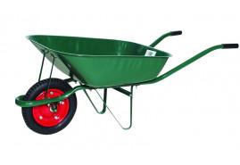 taczka ogrodnicza, nośność 80 kg objętość  misy 60 l <br> z kołem dętkowym pneumatycznym