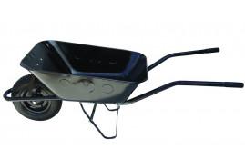 taczka budowlana 80 l, koło pompowane - misa tłoczona z blachy czarnej, nosność 100 kg