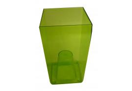 opakowanie na kwietnik graniasty, DUW 120P, zielony, rozmiar 120x120x200 mm