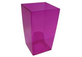 opakowanie na kwietnik graniasty, DUW 120P, kolor różowy, rozmiar 120x120x200 mm