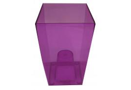 opakowanie na kwietnik graniasty, DUW 120P, fioletowy, rozmiar 120x120x200 mm