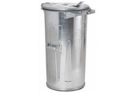 pojemnik na śmieci 110 l ocynkowany
