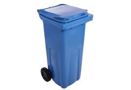 pojemnik na śmieci 120 l czarny plastikowy