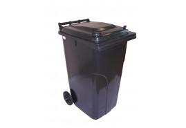pojemnik na śmieci 240 l brązowy plastikowy