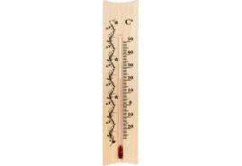 termometr wewnętrzny drewniany 185x40mm