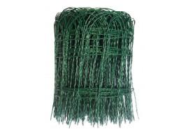 dekoratywna siatka ogrodzeniowa 0,4x25m 2mm PVC15x9cm