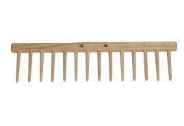 belka płaska grabii, 14 zębów drewnianych