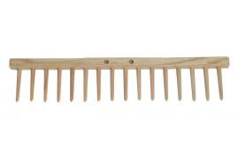 belka płaska grabii, 16 zębów drewnianych