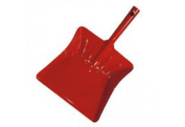 łopatka na śmieci kolorowy lakier czerwony