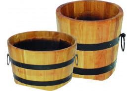 kwietnik drewniany (dąb), wysokość x średnica 25x25 cm
