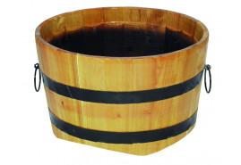 kwietnik drewniany (dąb), wysokość x średnica 30x50 cm