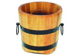 kwietnik drewniany (dąb), wysokość x średnica 40x40 cm