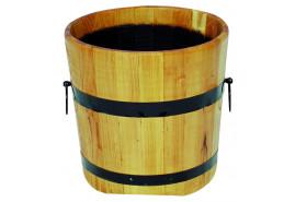 kwietnik drewniany (dąb), wysokość x średnica 40x50 cm